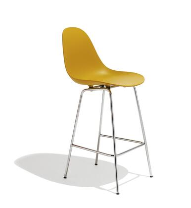 TA Collection TO-1555M-1506-C Counter Stool/Mustard Seat+Chrome