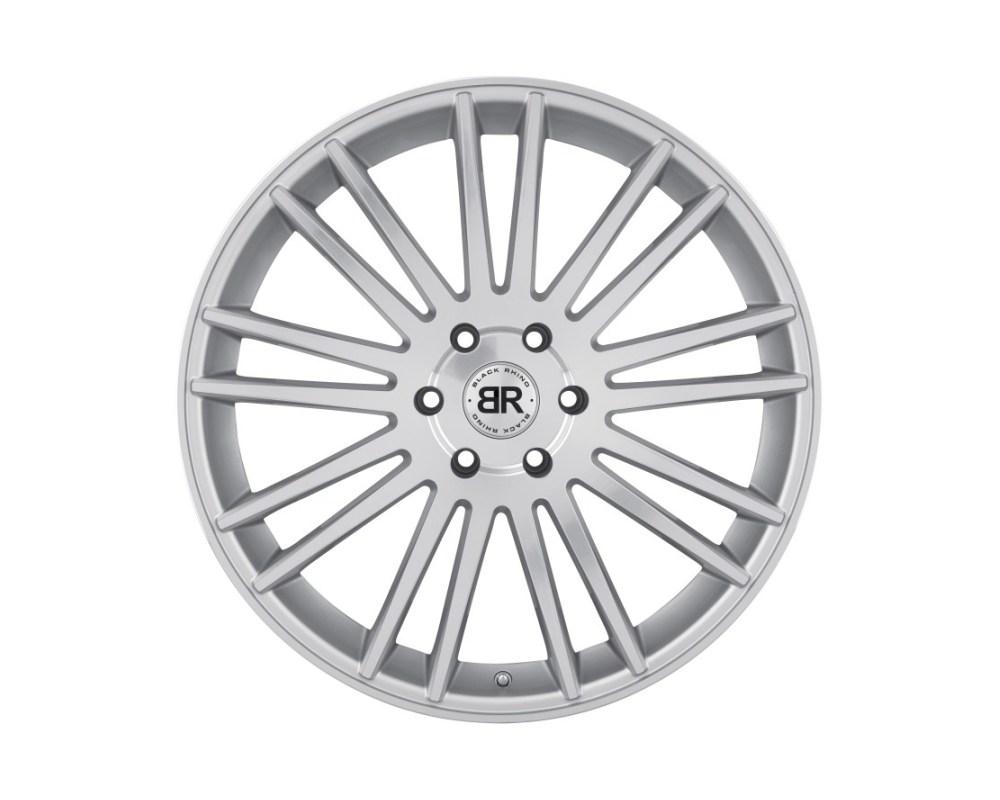 Black Rhino Kruger Silver w/ Mirror Cut Face Wheel 20x9 6x135 30mm CB87.1