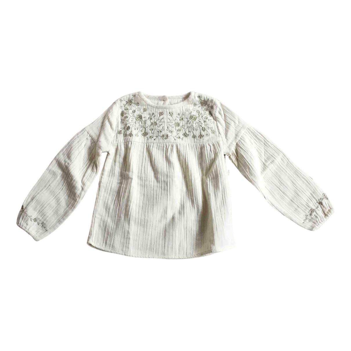 Louis Louise - Top   pour enfant en coton - ecru