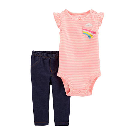 Carter's Baby Girls 2-pc. Bodysuit Set, 18 Months , Multiple Colors