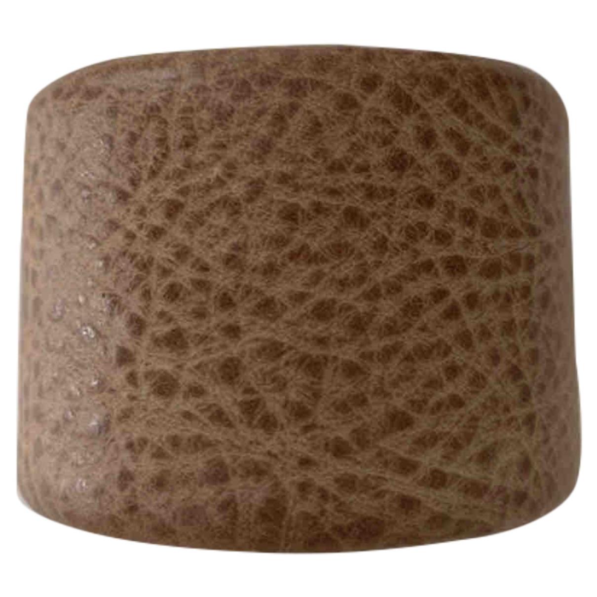 Brunello Cucinelli - Bracelet   pour femme en cuir - marron