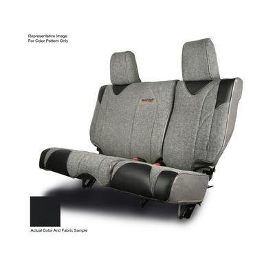 MasterCraft Safety Fold & Tumble Rear Seat Slip Cover, DirtSport Stitch (Black/Black) - 702674