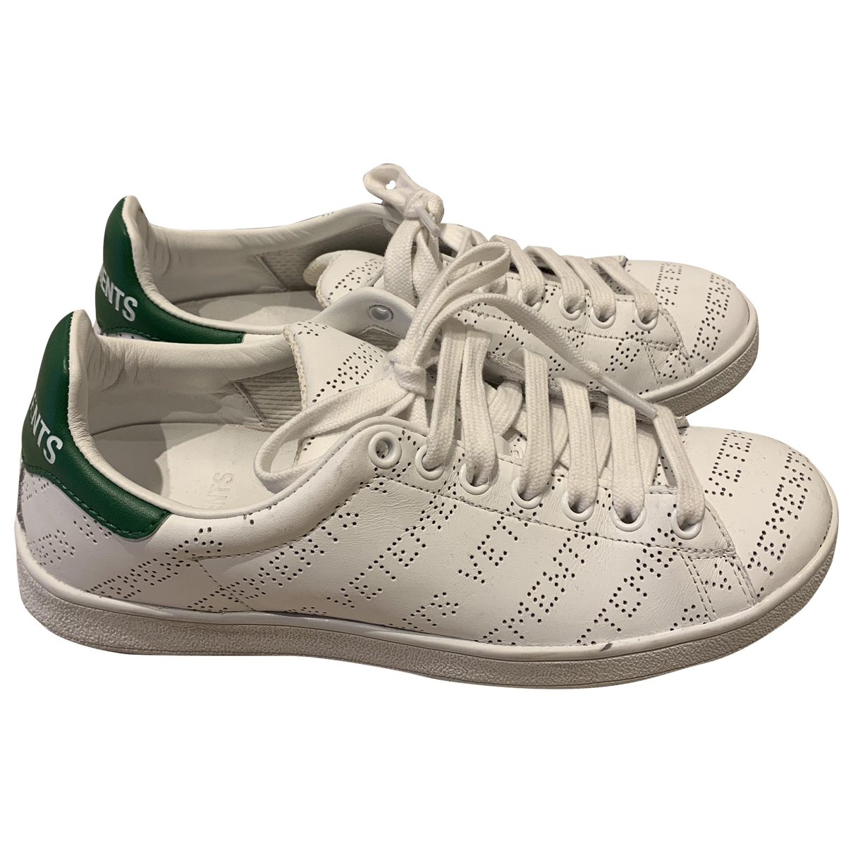 Vetements \N White Leather Trainers for Women 36 EU