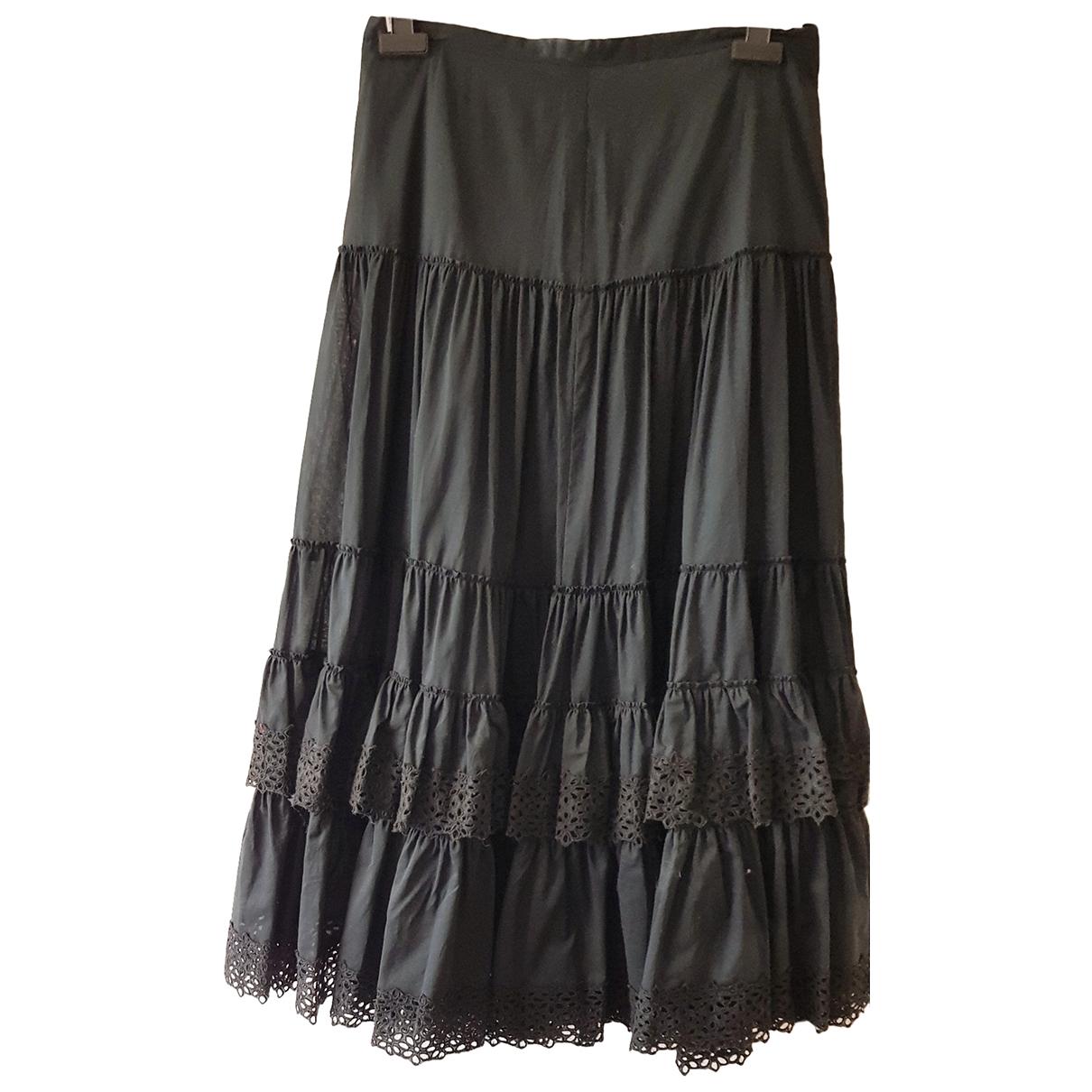 Elegance Paris - Jupe   pour femme en coton - noir