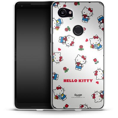 Google Pixel 2 XL Silikon Handyhuelle - Hello Kitty Flower Pattern von Hello Kitty
