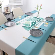 1pc Mountain Print Tablecloth