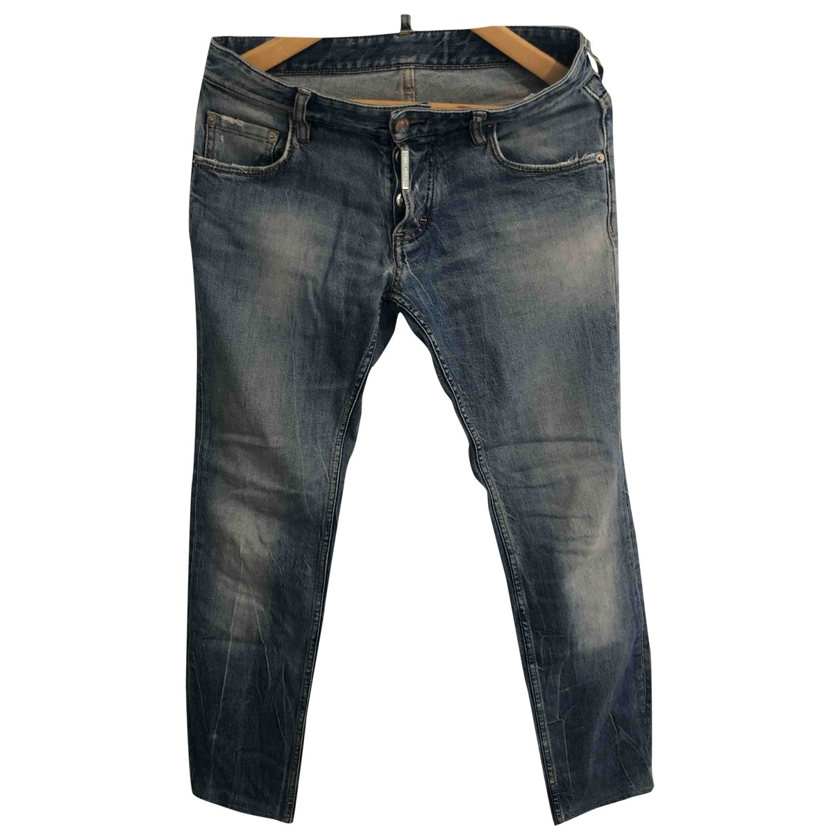 Dsquared2 \N Blue Cotton - elasthane Jeans for Men 42 - 44 FR