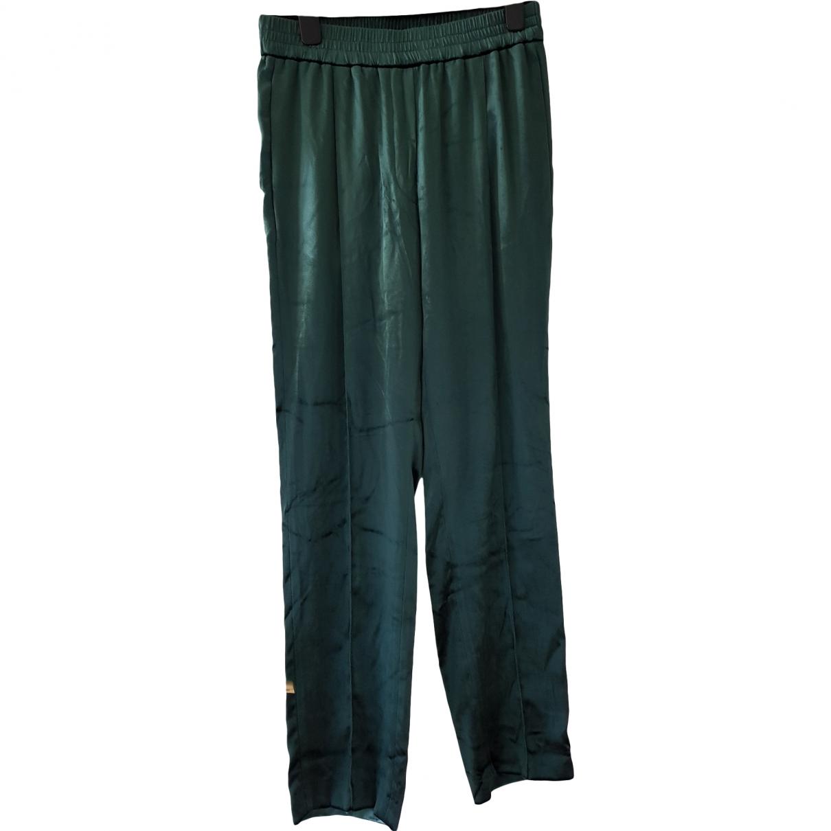 Sandro \N Green Trousers for Women 2 0-5