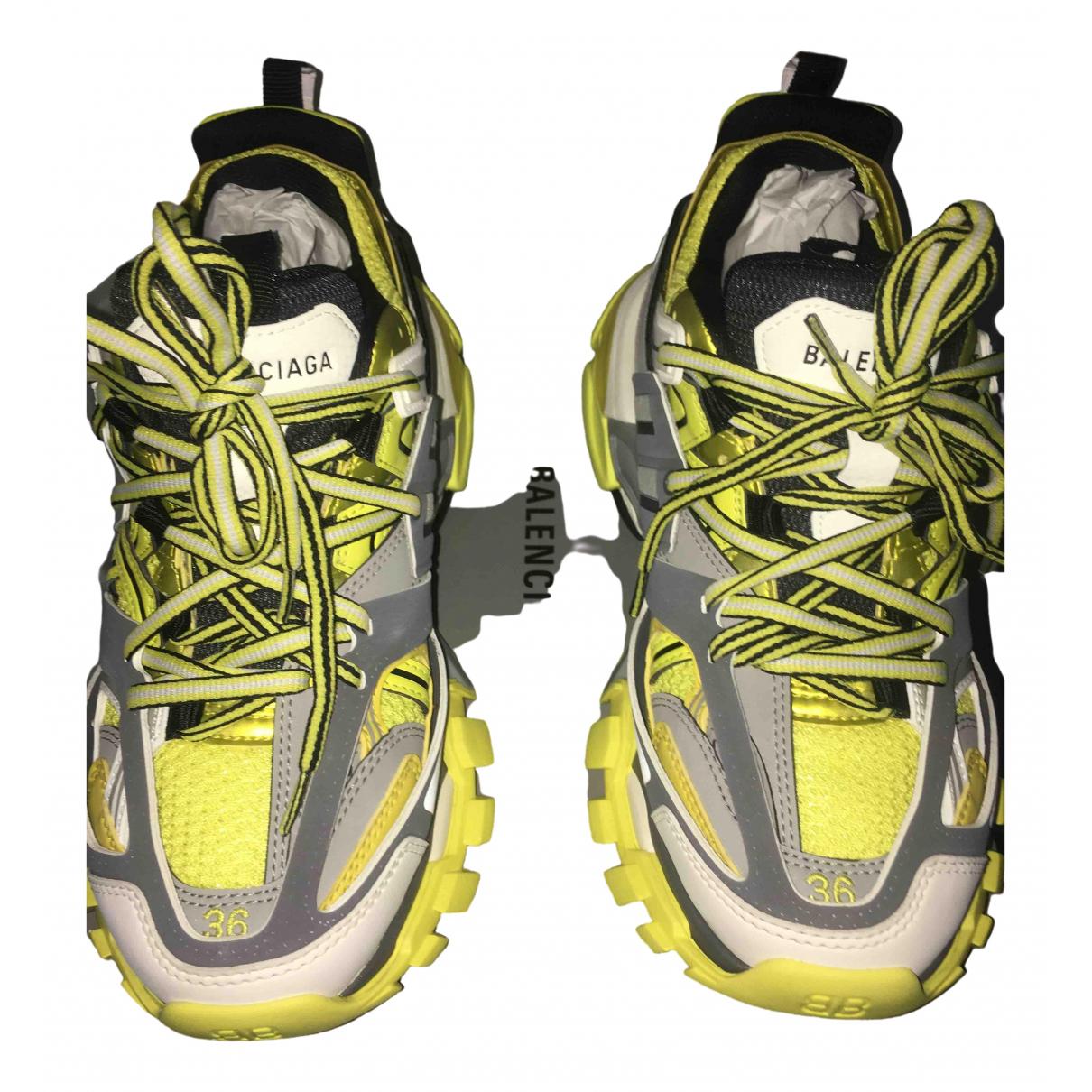 Balenciaga - Baskets Track pour femme en toile - jaune