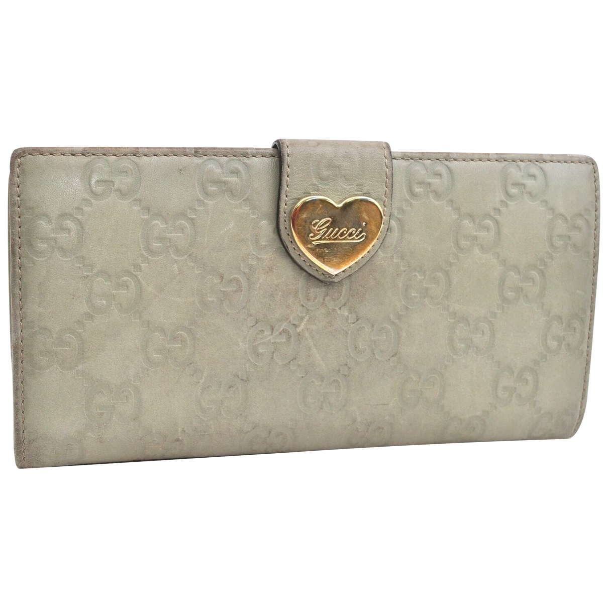 Gucci \N Grey Leather wallet for Women \N