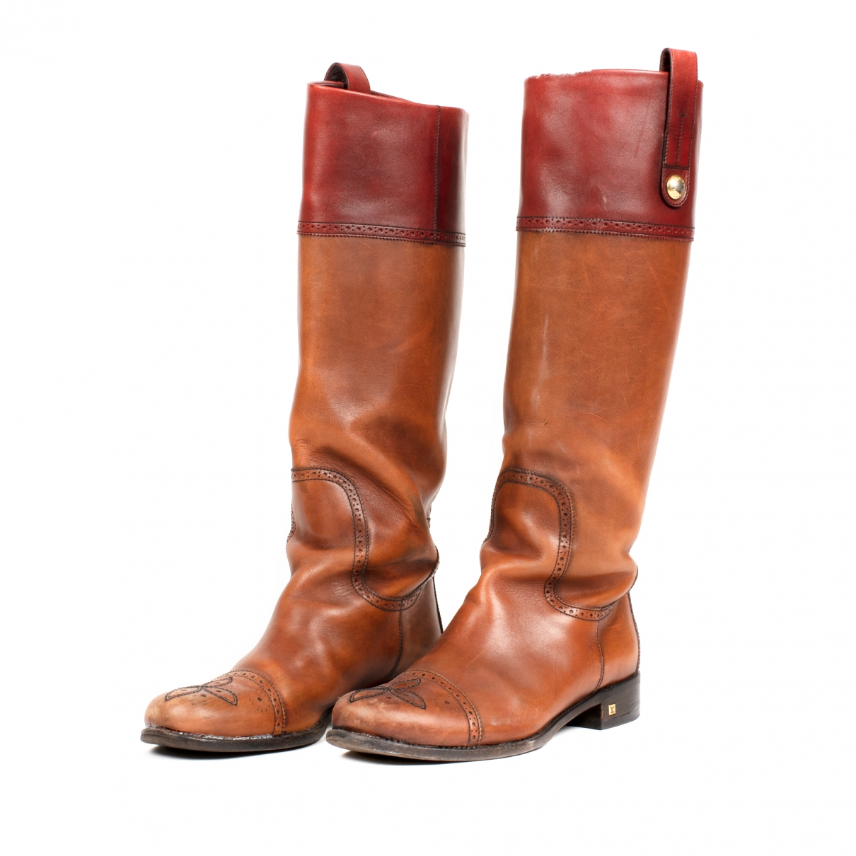 Louis Vuitton \N Brown Leather Boots for Women 38.5 EU