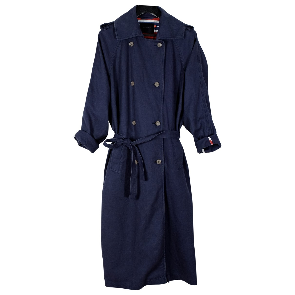 Wood Wood \N Navy Linen Trench coat for Women XS International