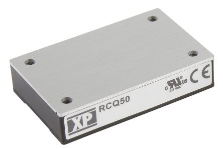 XP Power RCQ50 50W Isolated DC-DC Converter Through Hole, Voltage in 66 → 160 V dc, Voltage out 12V dc Railway