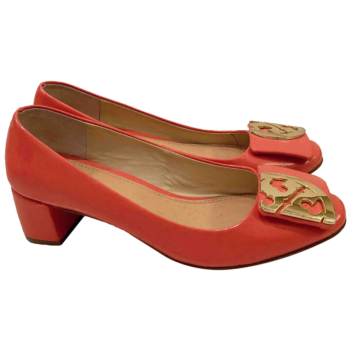 Tory Burch \N Orange Patent leather Heels for Women 37 EU