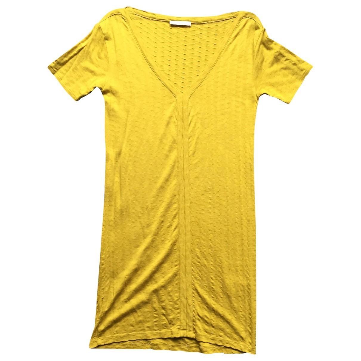Sessun \N Kleid in  Gelb Baumwolle