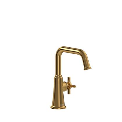Momenti MMSQS00+BK-05 Single Hole Lavatory Faucet with + Cross Handle without Drain 0.5 GPM  in