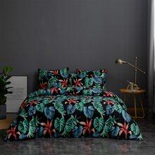 Leaf Print Bedding Set Without Filler
