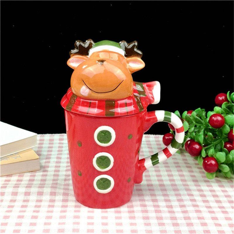 Christmas Motif Ceramic Mug Holiday Gifts Christmas Gifts Coffee Cup