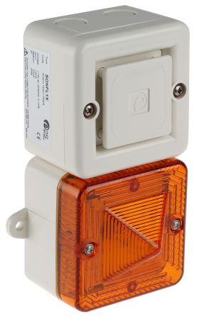 e2s SONFL1X Sounder Beacon 100dB, Amber Xenon, 115 V ac, IP66