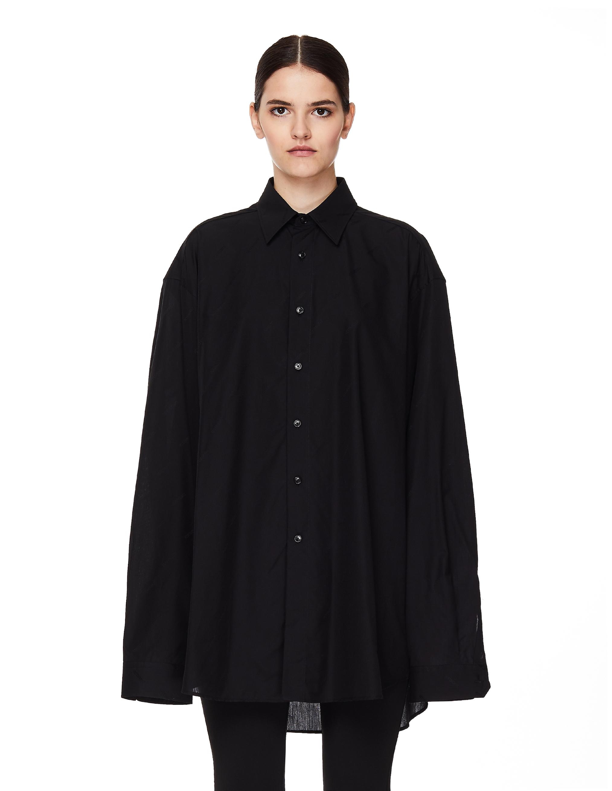 Vetements Black Cotton Shirt
