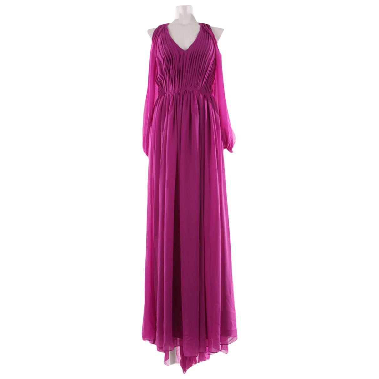 Autre Marque \N Purple Linen dress for Women 36 FR
