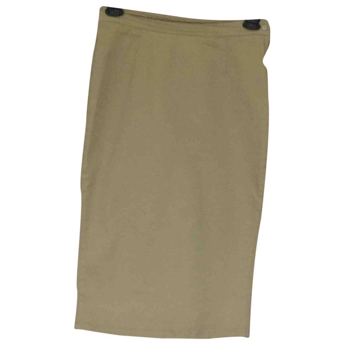 D&g \N Khaki Cotton - elasthane skirt for Women 40 IT