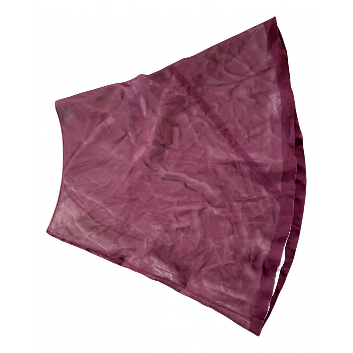 Louis Vuitton - Jupe   pour femme en soie - bordeaux