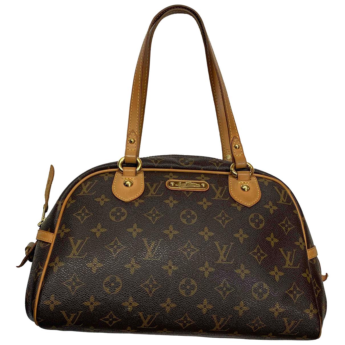 Louis Vuitton - Sac a main Montorgueil pour femme en toile - marron