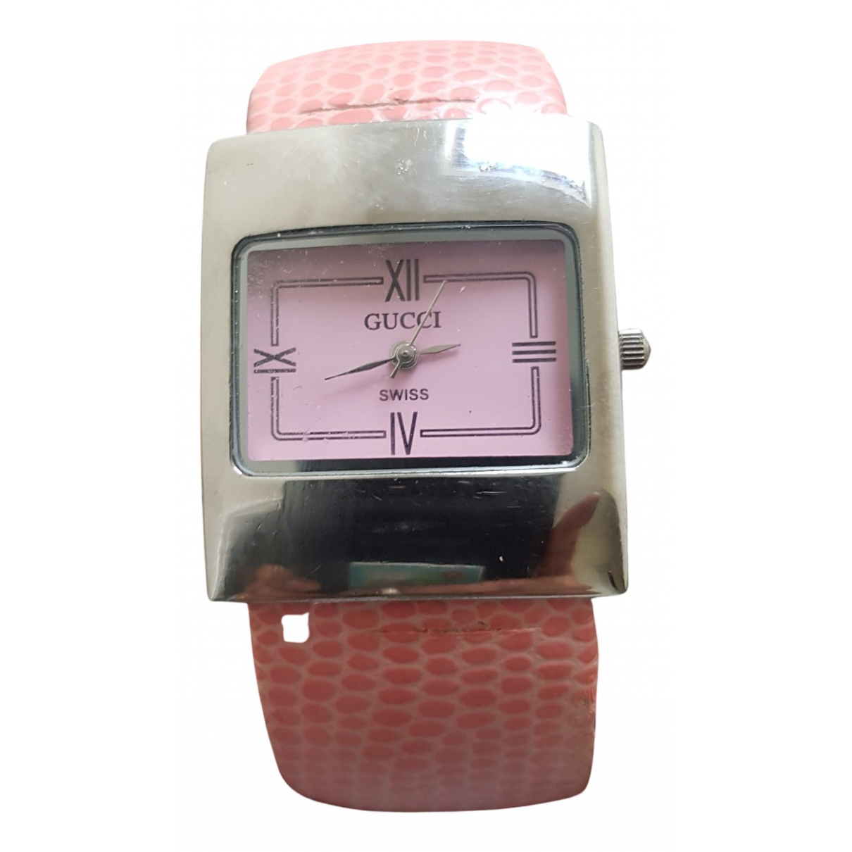 Gucci \N Uhr in  Rosa Stahl
