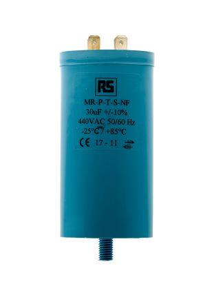RS PRO 30μF Polypropylene Capacitor PP 440V ac ±10% Tolerance Screw Mount