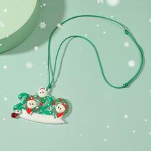 Halskette mit Weihnachtsmann Anhaenger