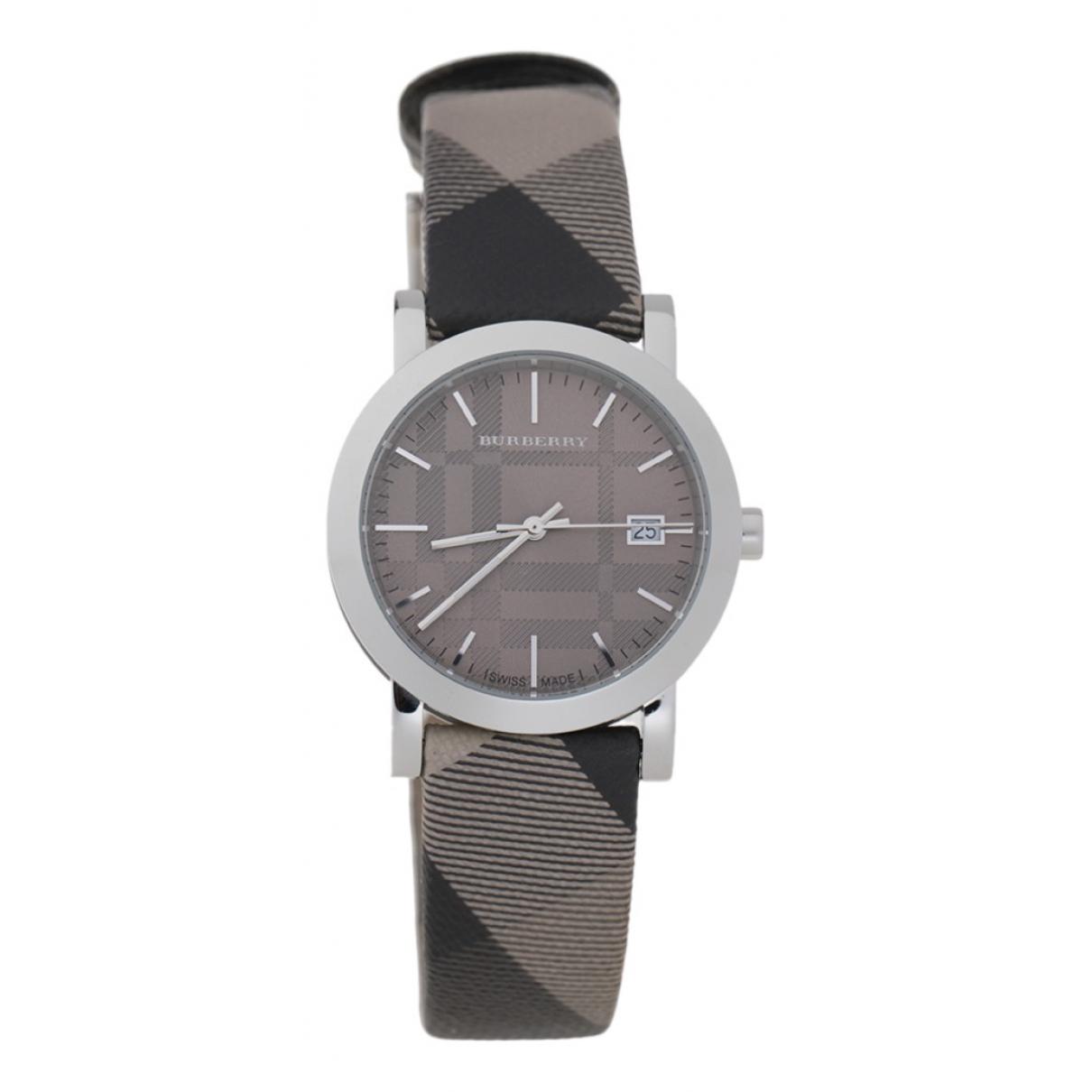 Burberry - Montre   pour femme en acier - gris