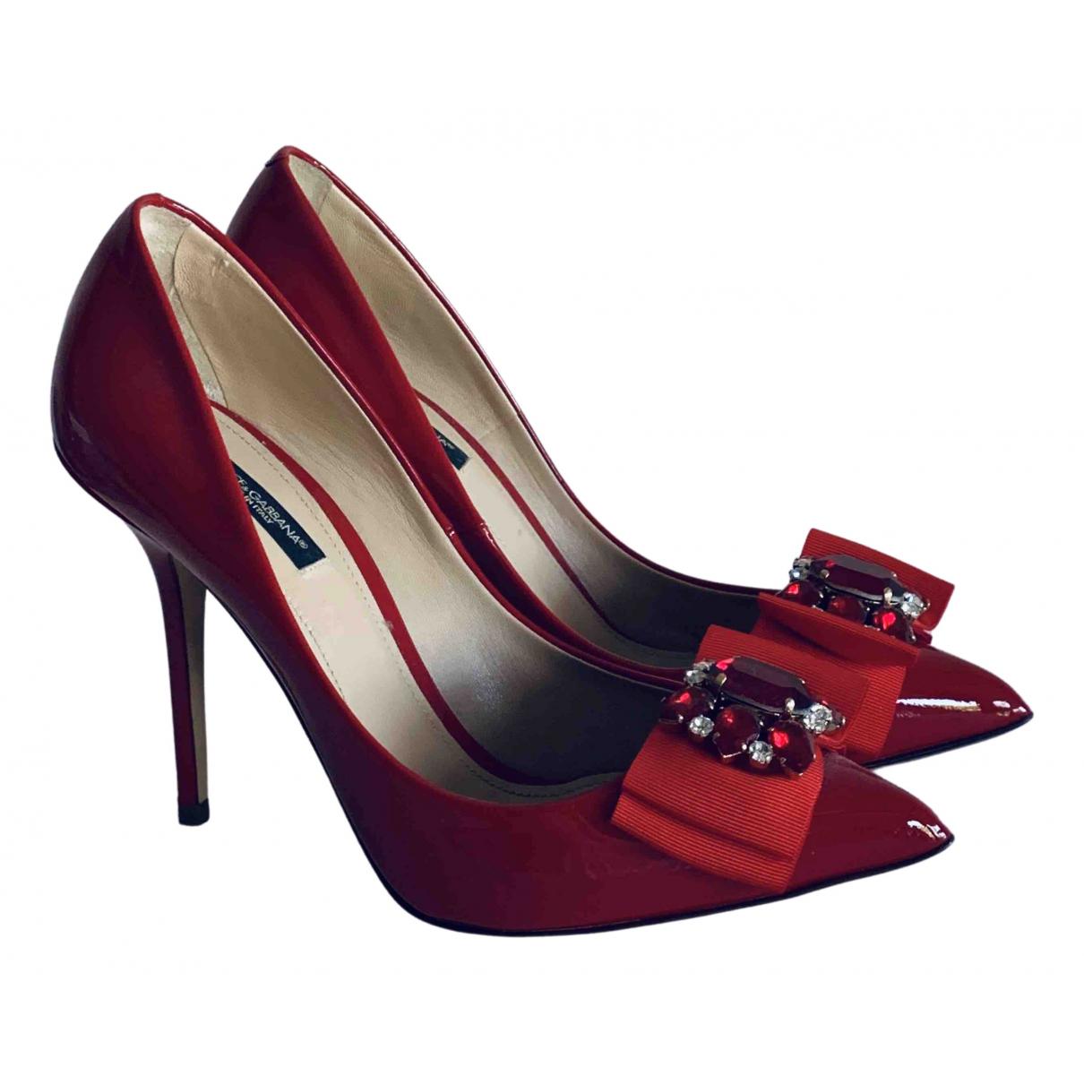 Dolce & Gabbana \N Pumps in  Rot Lackleder