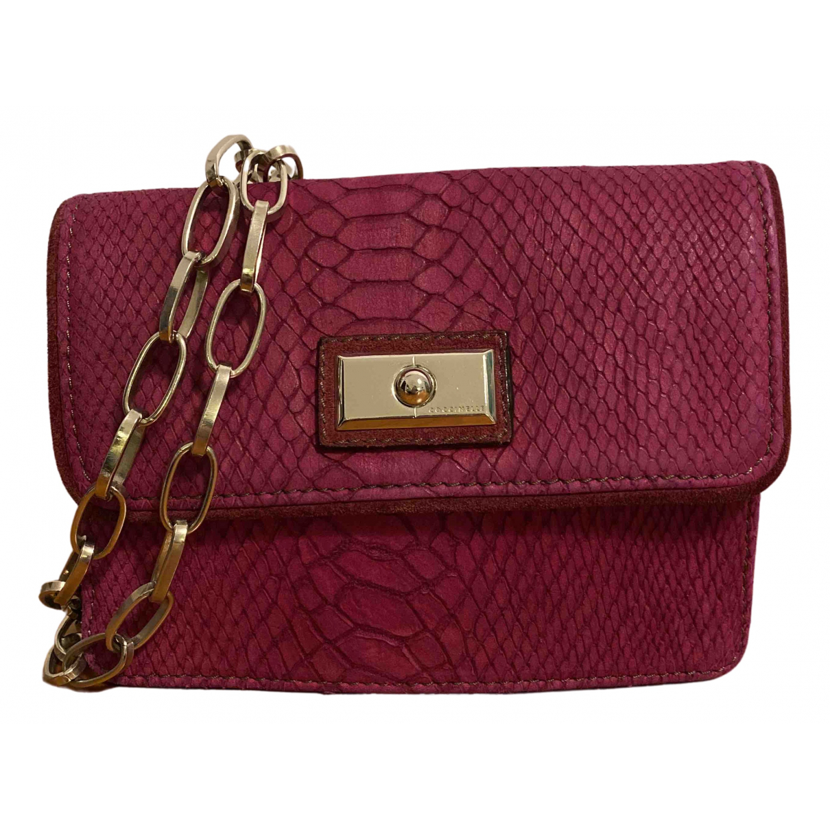 Coccinelle \N Pink Suede Clutch bag for Women \N