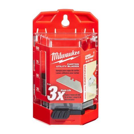 Milwaukee 50-Piece Carton Utility Knife Blades w/ Dispenser