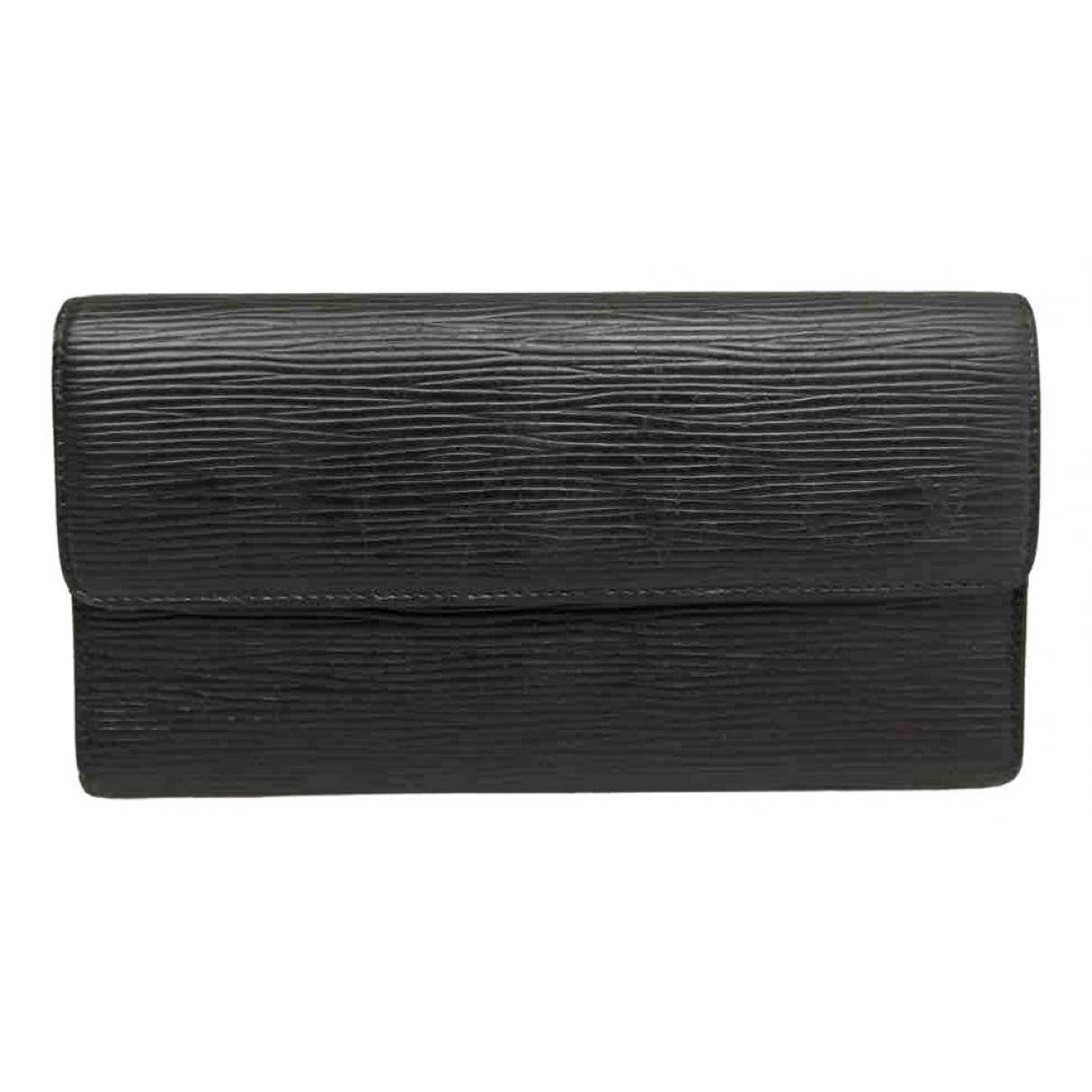 Louis Vuitton \N Black Leather wallet for Women \N
