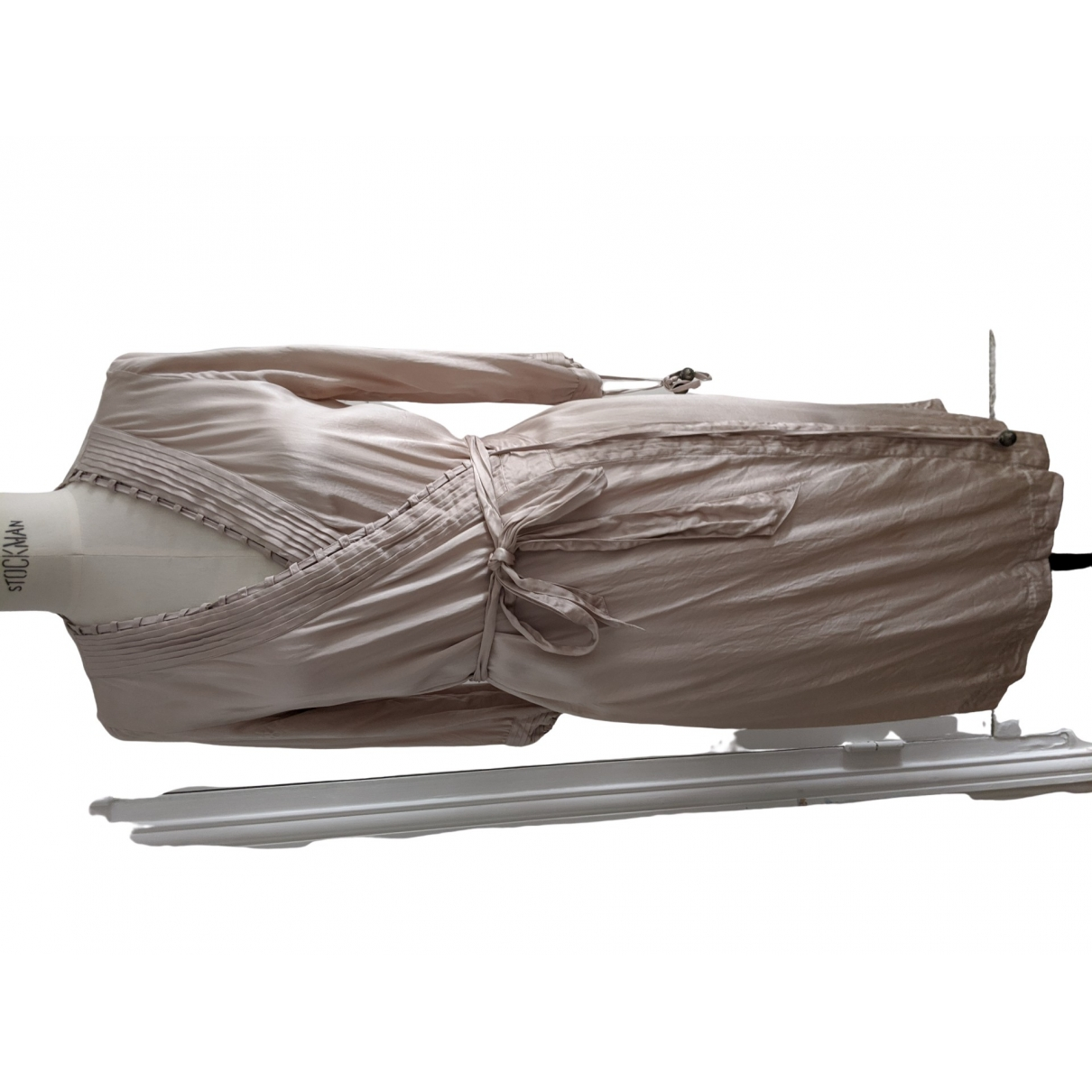 Stella Mccartney For H&m \N Silver Silk dress for Women 36 FR