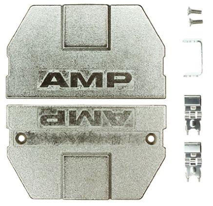 TE Connectivity , AMPRIMITR .50III Zinc D-sub Connector Backshell, 80 Way, Silver