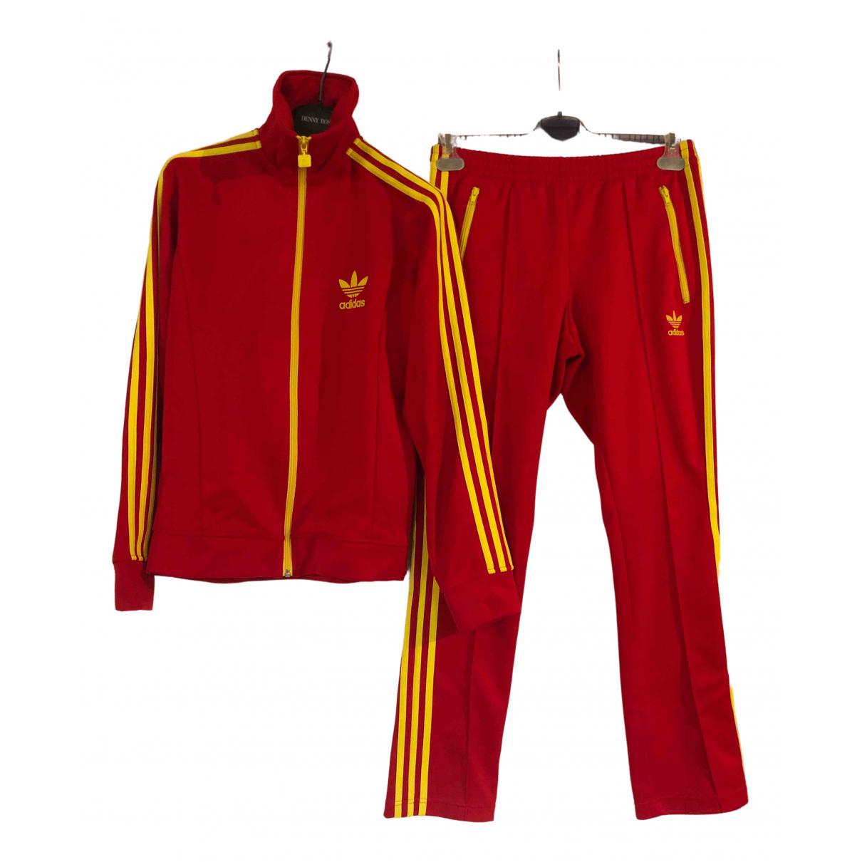 Adidas \N Kleid in  Rot Polyester