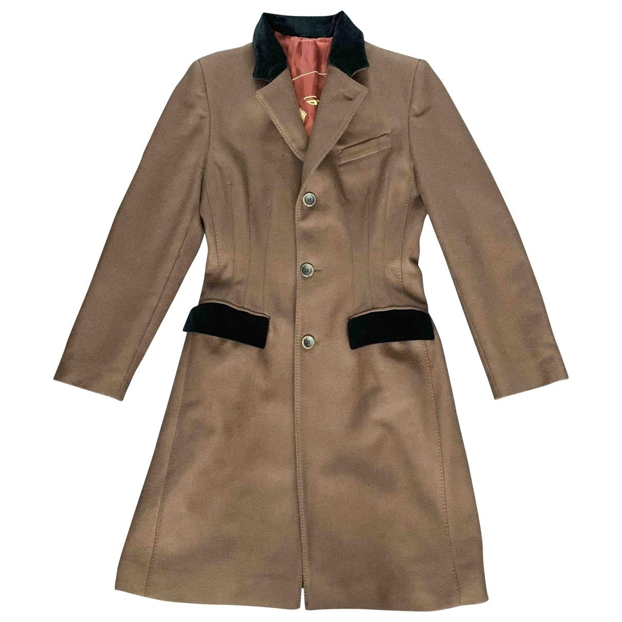 Jean Paul Gaultier \N Brown Wool coat for Women 40 FR