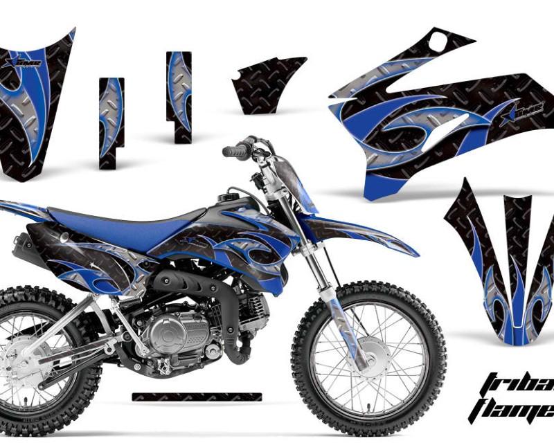 AMR Racing Graphics MX-NP-YAM-TTR110-08-18-TF U K Kit Decal Sticker Wrap + # Plates For Yamaha TTR110 2008-2018áTRIBAL BLUE BLACK