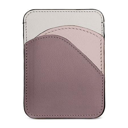 Leatherette Card Holder, One Size , Pink