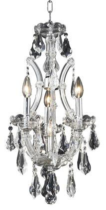 2801D12C/SS 2801 Maria Theresa Collection Hanging Fixture D12in H22in Lt: 3+1 Chrome Finish (Swarovski Strass/Elements