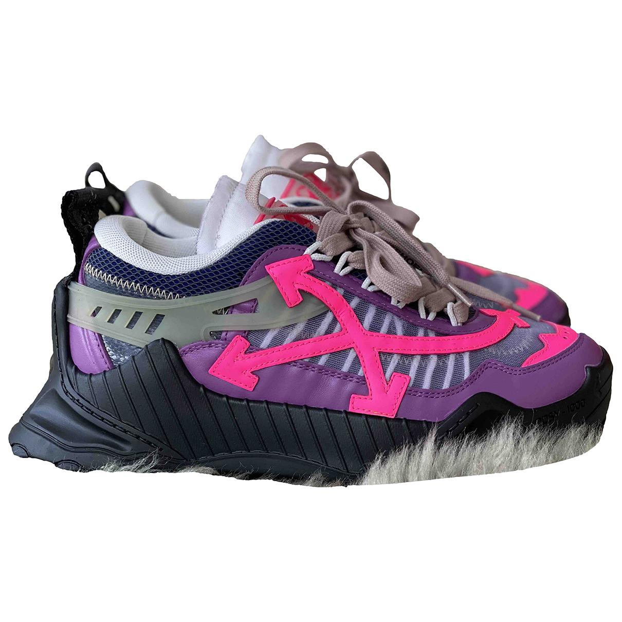 Off-white - Baskets Odsy-1000 pour femme en cuir - violet