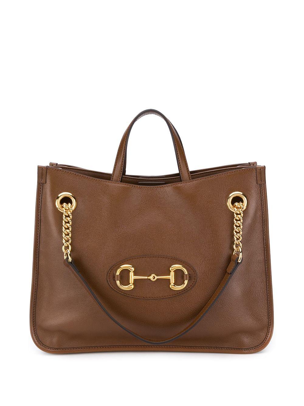 Horsebit Leather Shopping Bag