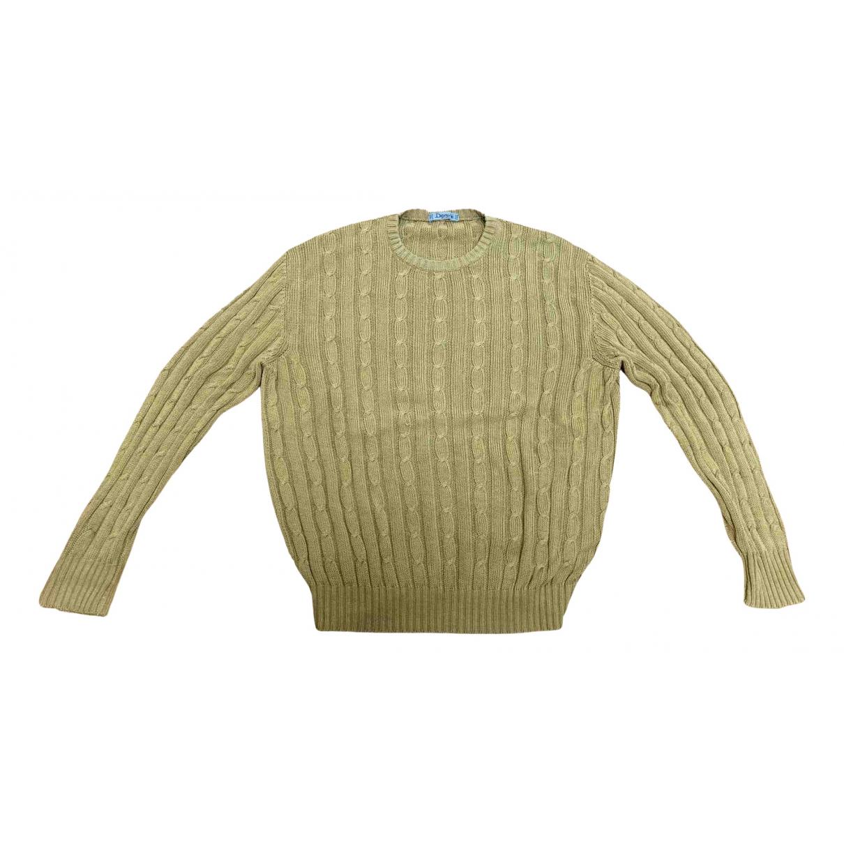 - Pull Crochet pour femme en coton - beige