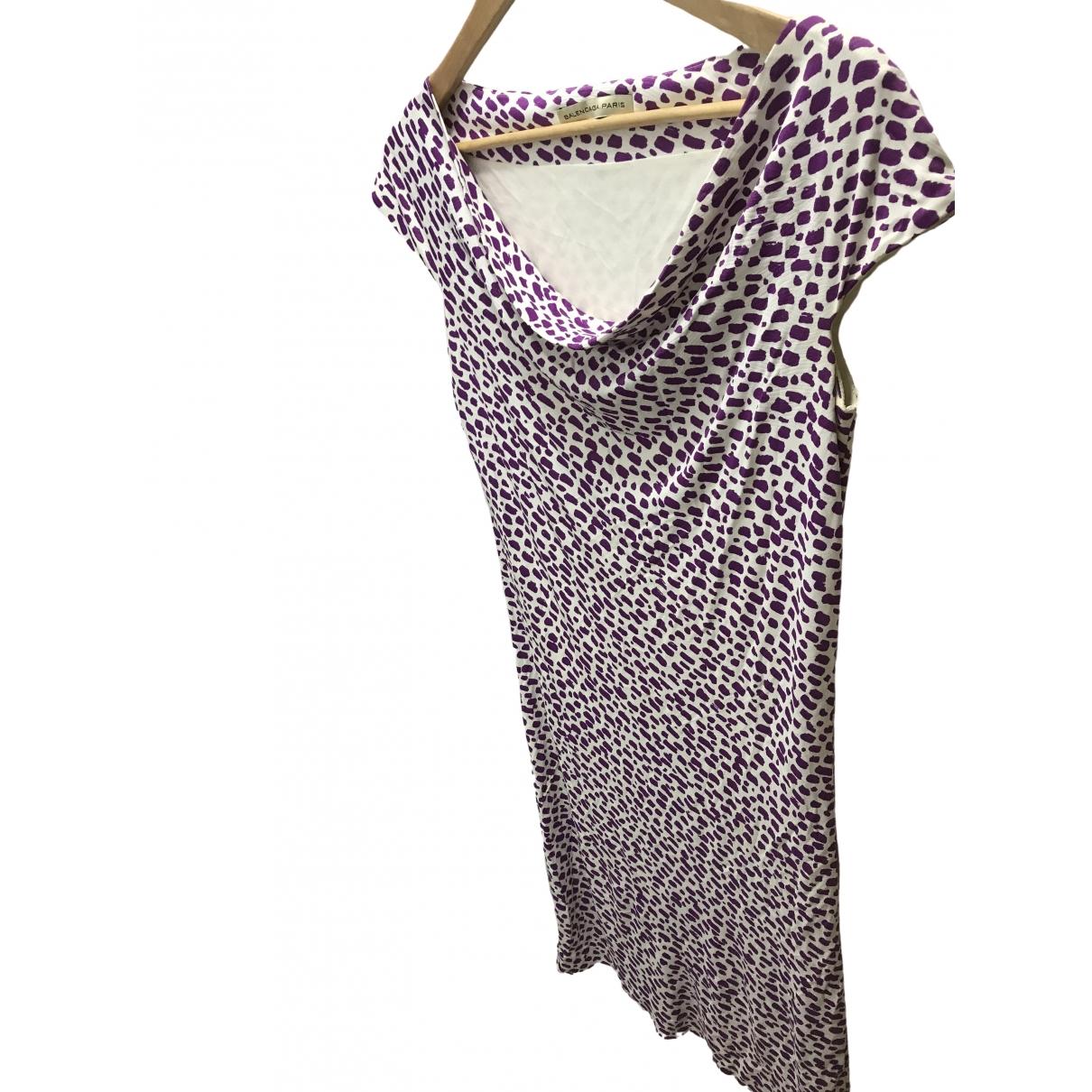 Balenciaga \N Kleid in  Lila Synthetik