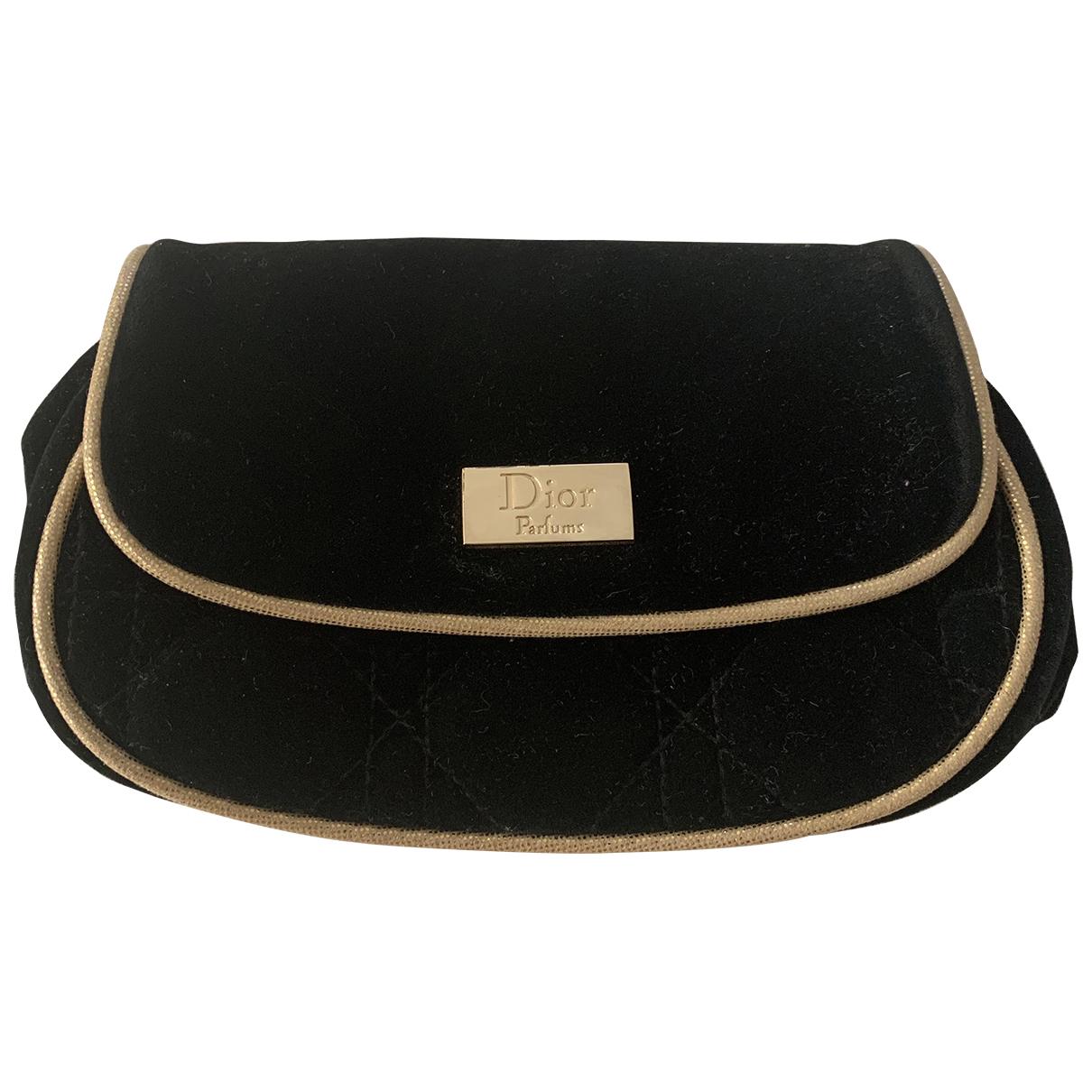 Dior - Sac de voyage   pour femme en velours - noir