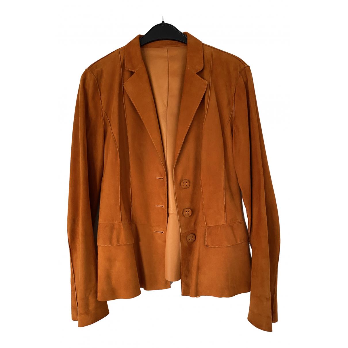 Fratelli Rossetti - Veste   pour femme en cuir - orange