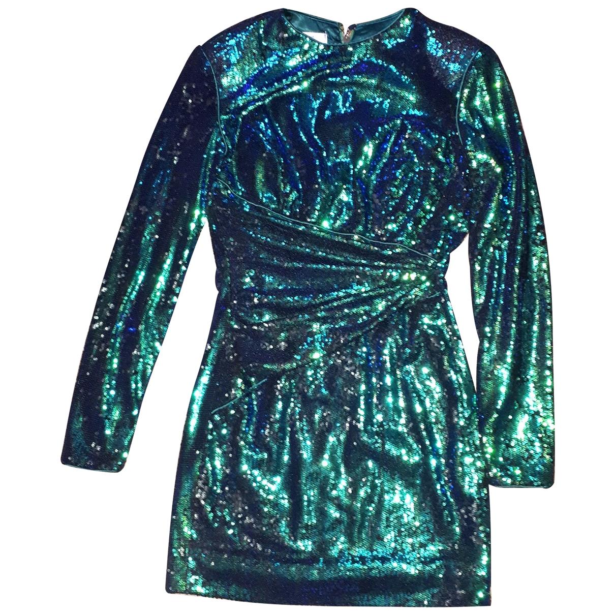 House Of Cb \N Green Glitter dress for Women 38 FR